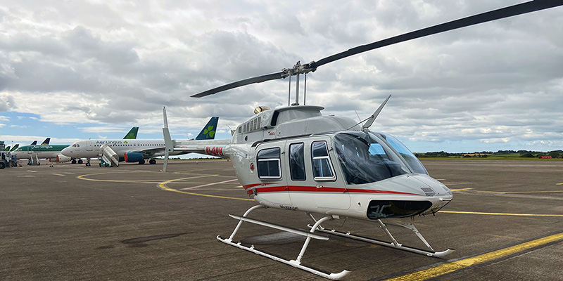 Bell 206L Helicopter in Cork Airport
