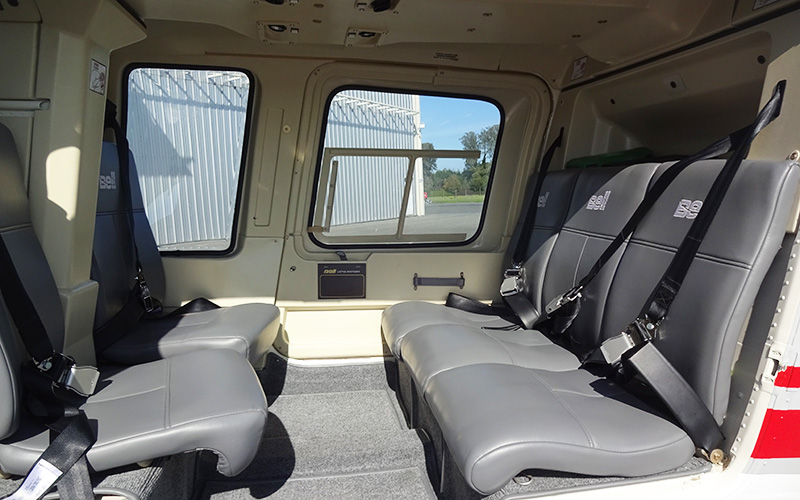 Bell206L4 helicopter seating layout