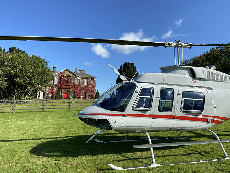 Bell 206L Helicopter at Lyrath House